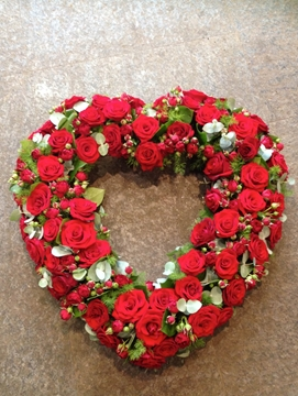 Heart Funeral Wreath