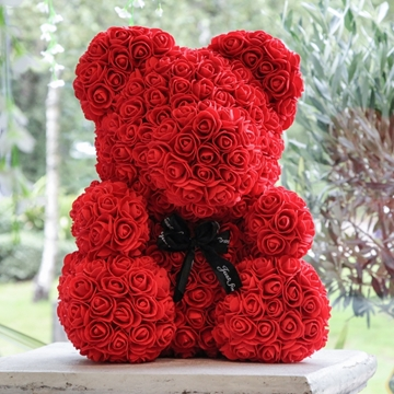 Picture of Small Red Flower Teddy Bear