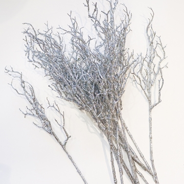 Picture of Tall Silver Glitter Twigs