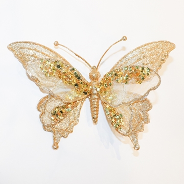 Picture of Large glitter butterfly Christmas Ornament
