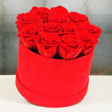 Picture of Red Round Hatbox