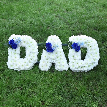 Picture of Blue Dad Sympathy Flowers