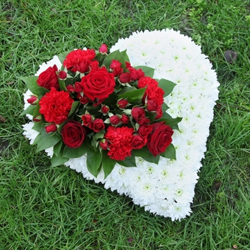 Picture of Love Heart Sympathy Flowers