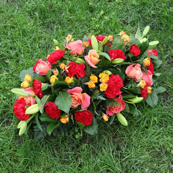 Picture of Red and Pink Sympathy Flowers